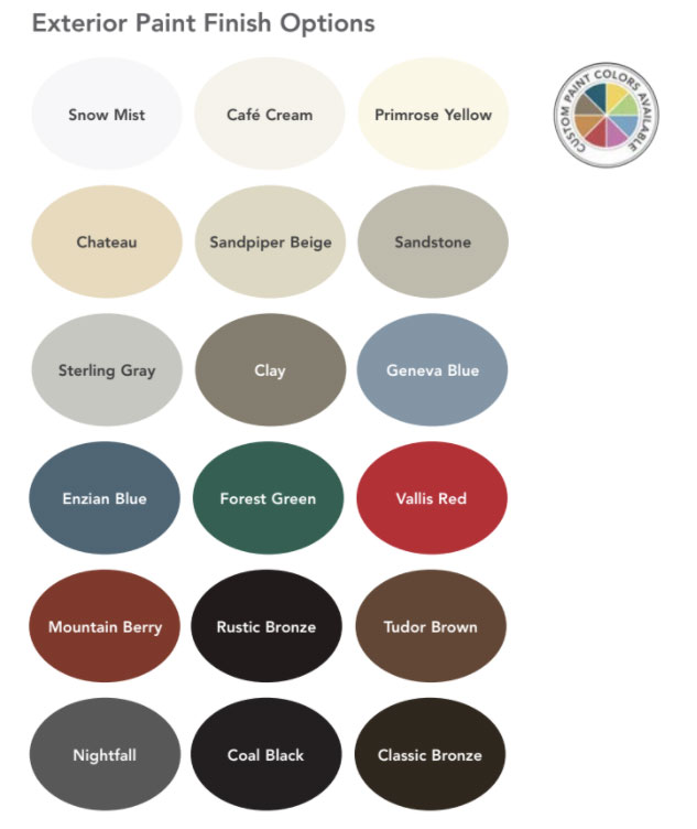 Exterior Color Options